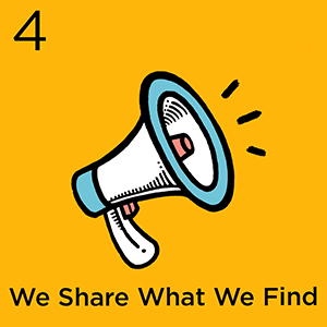 Step 4: We Share What We Find