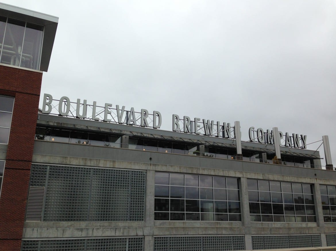 The sign atop Boulevard Brewing Company