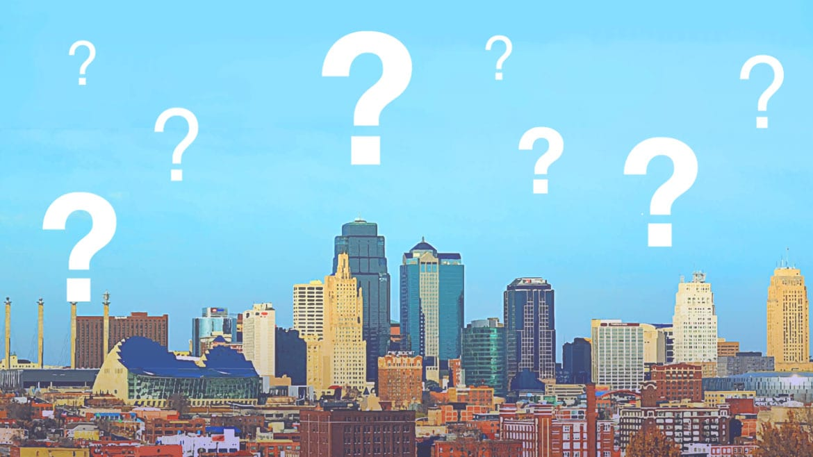Image of kc skyline with question marks