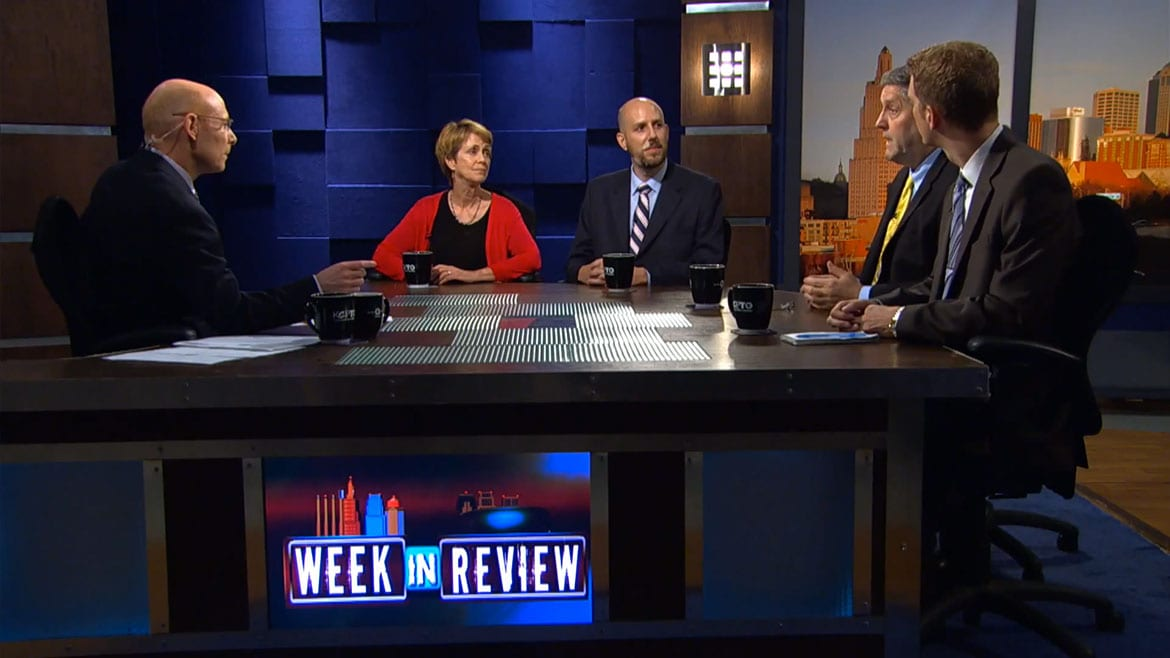 Panelists on the set of Week in Review