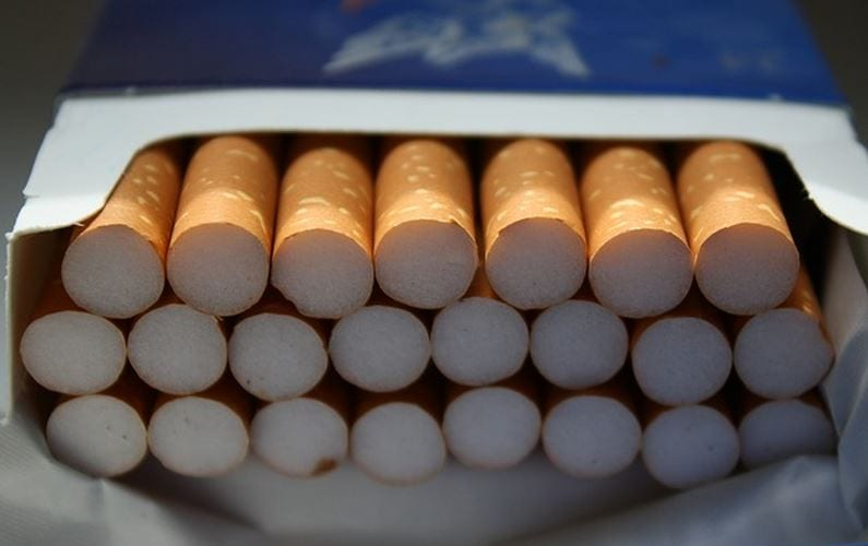Missouri has the lowest cigarette taxes in the nation, at 17 cents a pack. Kansas has the 15th lowest, at 79 cents a pack.
