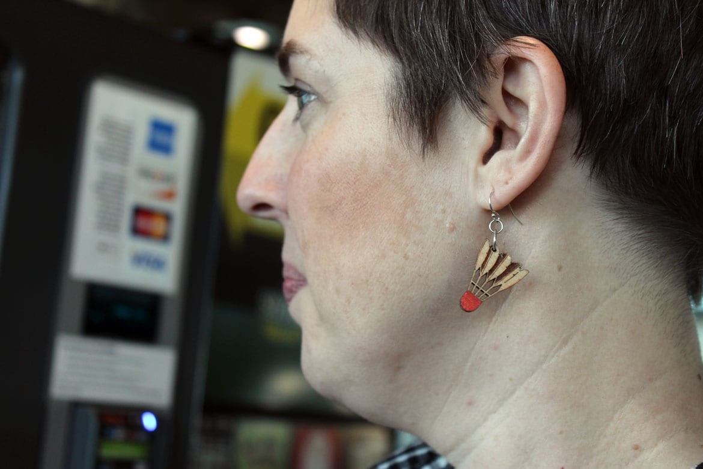 shuttlecock earrings