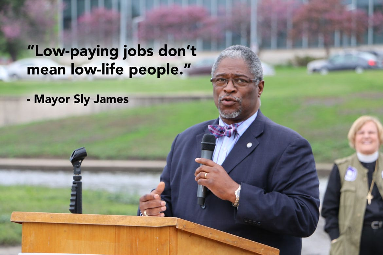 Mayor Sly James saying