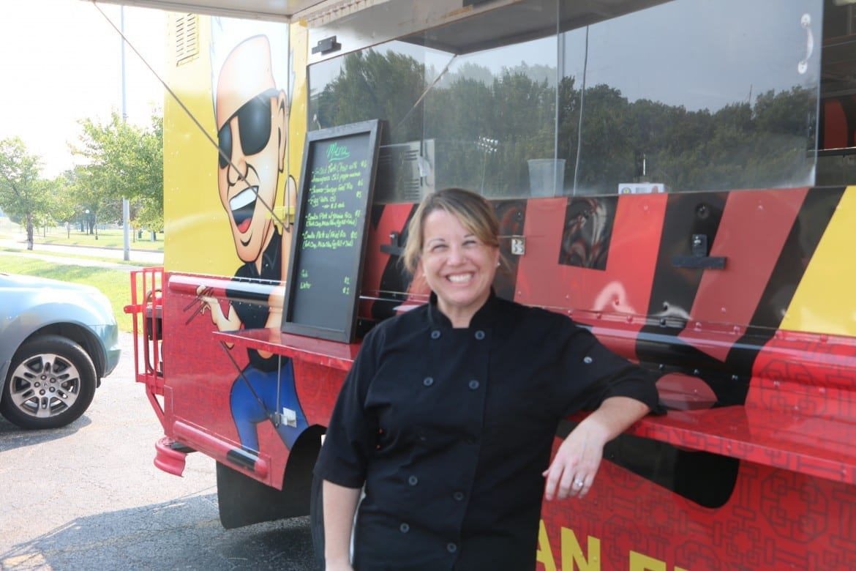 Besty Mguyen, owner of Boo Yah Asian Cuisine food truck in Macken Park. Photo by Daniel Boothe