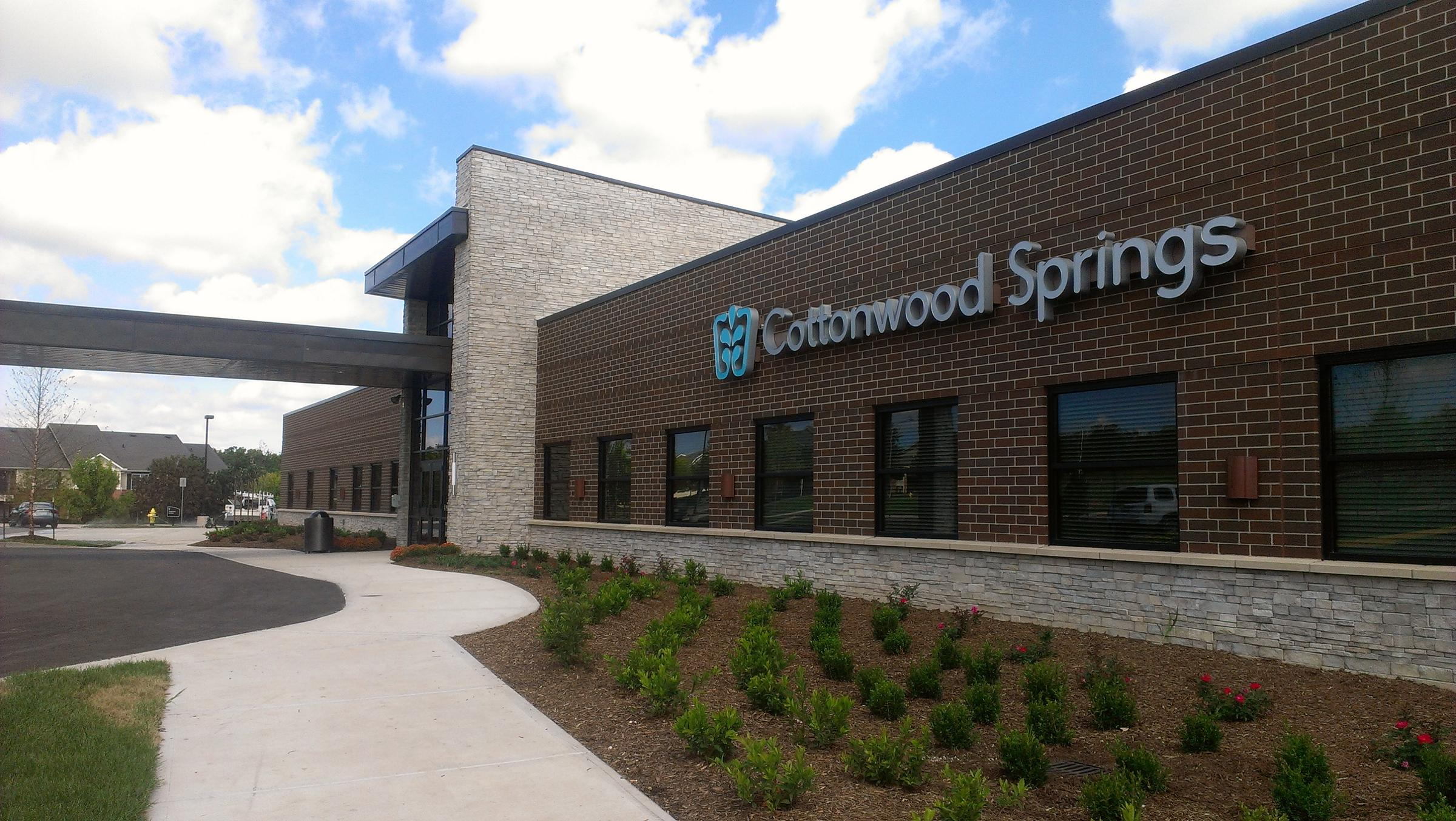 Cottonwood Springs Hospital, a 72-bed behavioral health facility, opens this week in Olathe. (Photo: Maria Carter   KCUR)