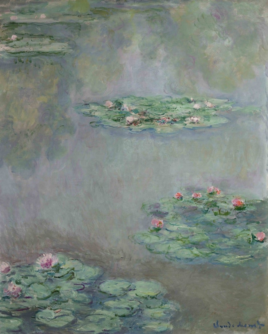 The 1908 painting, Water Lilies, by French Impressionist Claude Monet, will be auctioned by Sotheby's for the William I. Koch collection. (Credit: Sotheby's via AP)