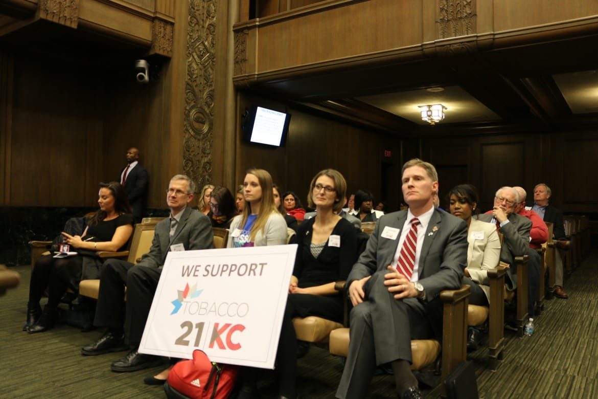 Tobacco 21 supporters at KC council