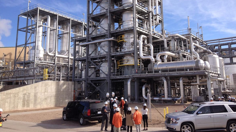 Abengoa Bioenergy recently halted operations at its new-generation ethanol plan in southwest Kansas. (Bryan Thompson   Heartland Health Monitor)