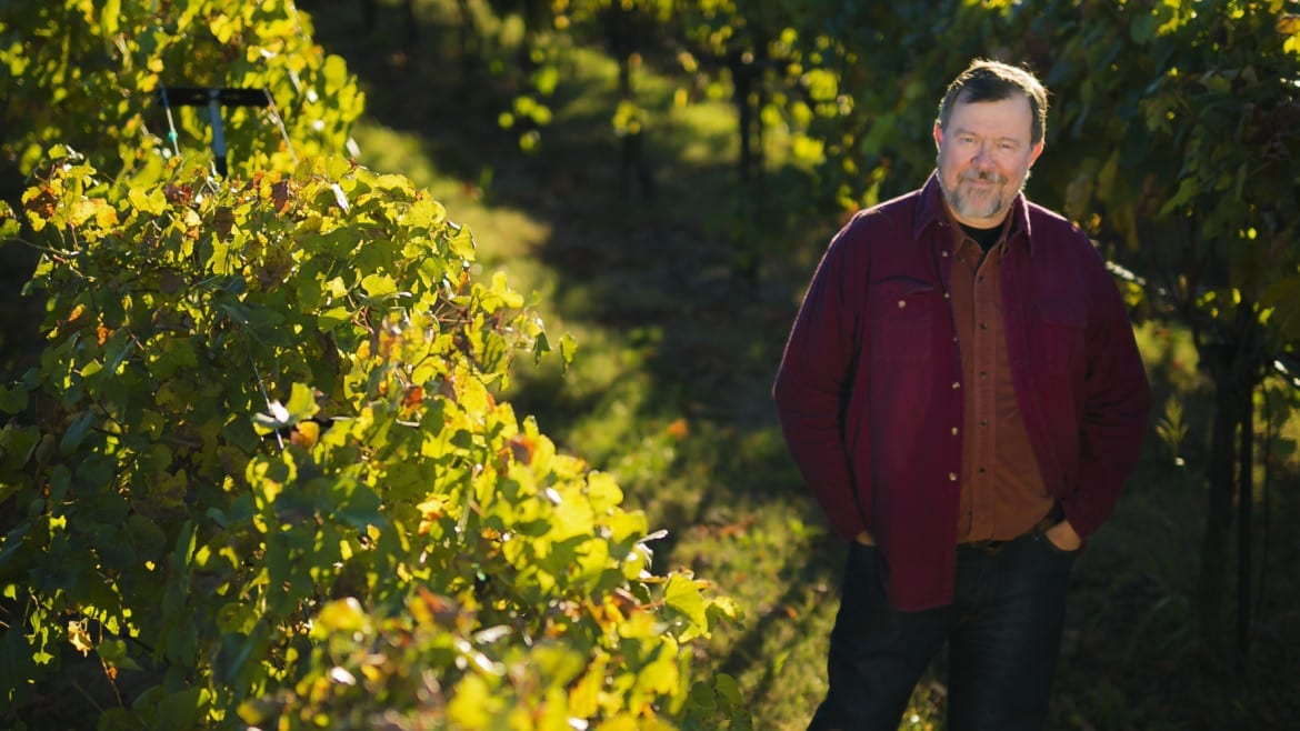 Portrait of Gerard Eisterhold inside his vinyard in Kansas City. He also own his own business, Eisterhold Associates Inc. (Photo: Jim Barcus)