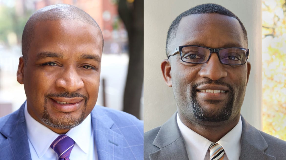 The two finalists: Ronald Taylor and Mark Bedell (Credit: KCPS)