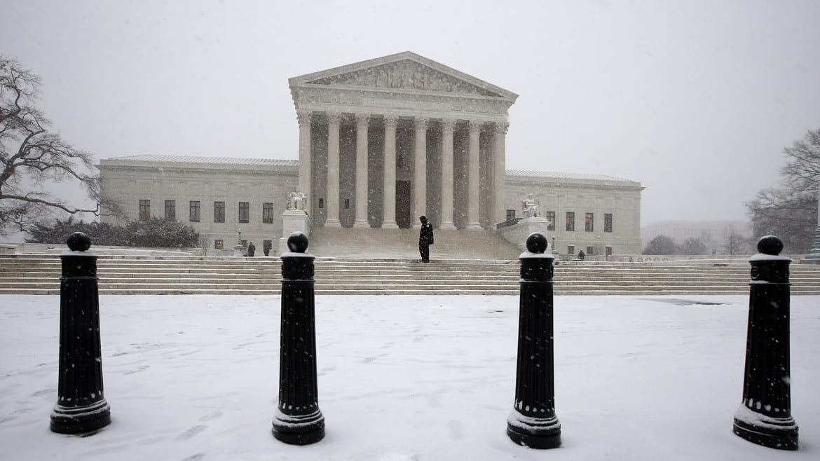 The U.S. Supreme Court, covered in snow, announced a decision on Monday that signals a new resentencing hearing for a Kansas City man currently serving a life sentence. (Photo: Alex Brandon | AP)