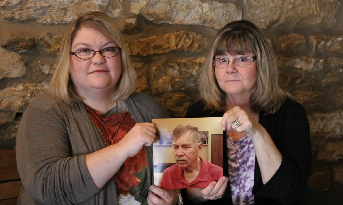 Allen Wagner's family says it took months for his Medicaid application to be approved. His daughter, Amy Flanigan, left, and wife, Charlene Wagner, recalled their frustration as he was moved from hospital to hospital. (Photo : Andy Marso |Heartland Health Monitor)