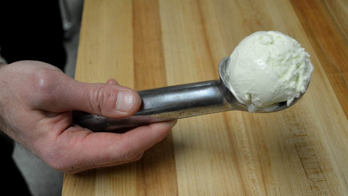 A scoop of ice cream.