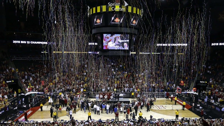 Celebration on basketball court