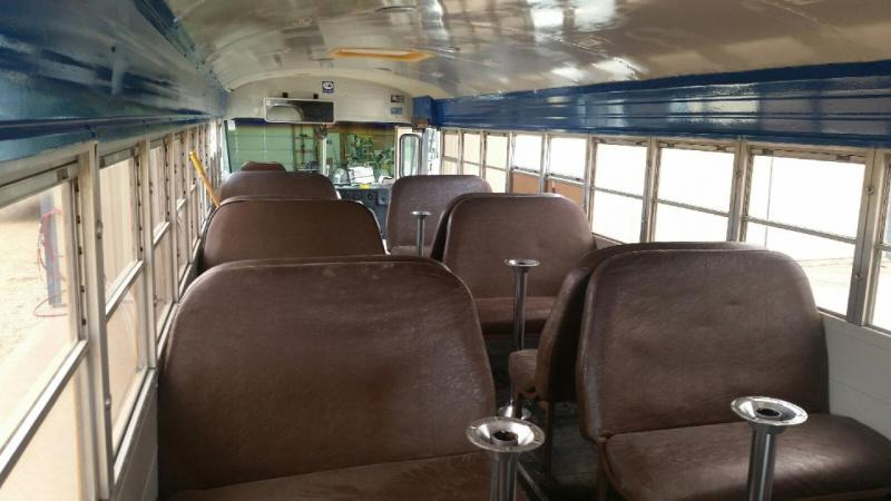 picture of inside of the bus