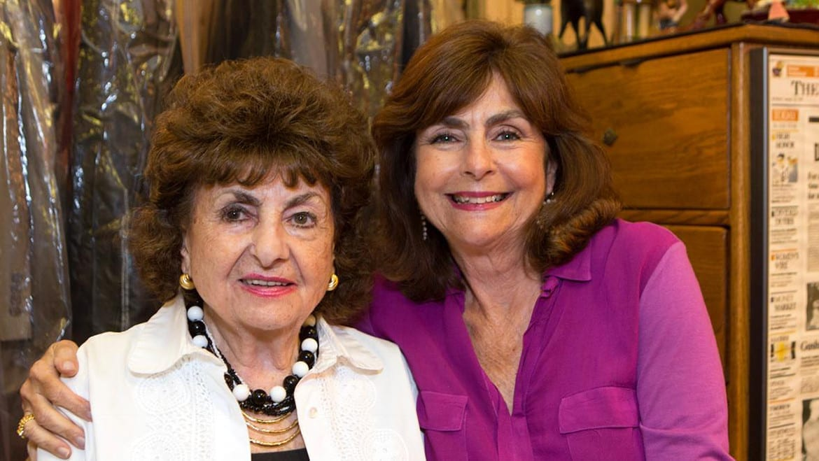 Holocause survivor Sonia Warshawski and Regina Kort