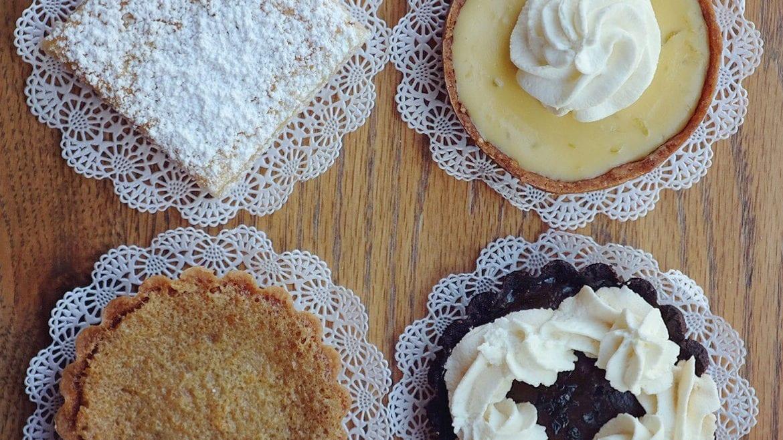 Four pastries.
