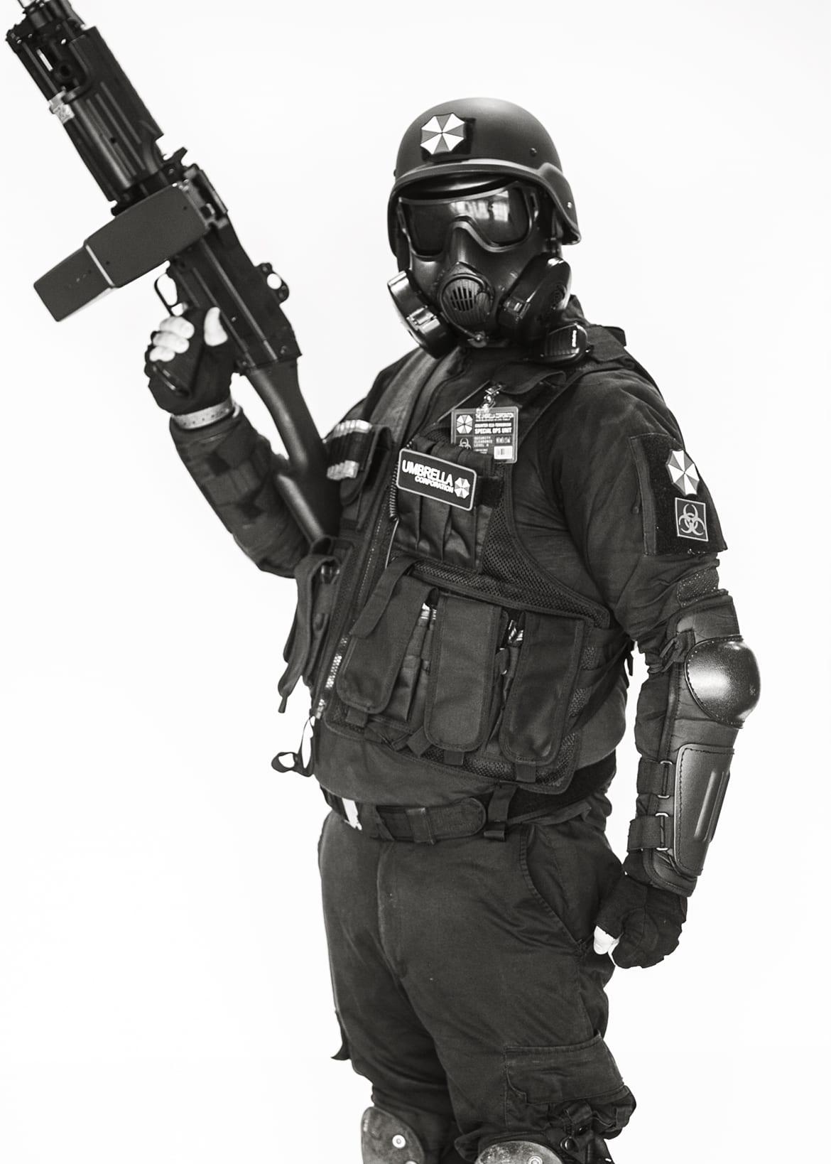 Caleb Bathgate Umbrella Corporation Soldier