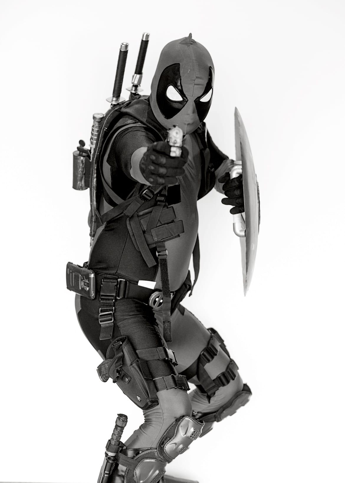 David Partelow cosplaying Deadpool