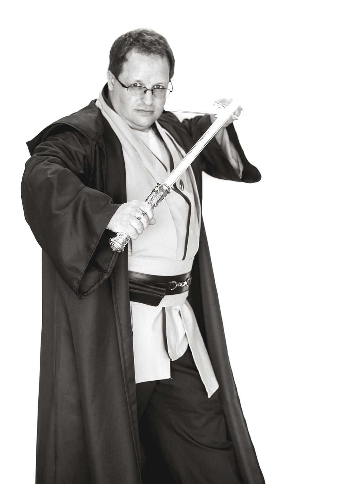 Anthony Fletcher Jedi based on Obi-Wan Kenobi