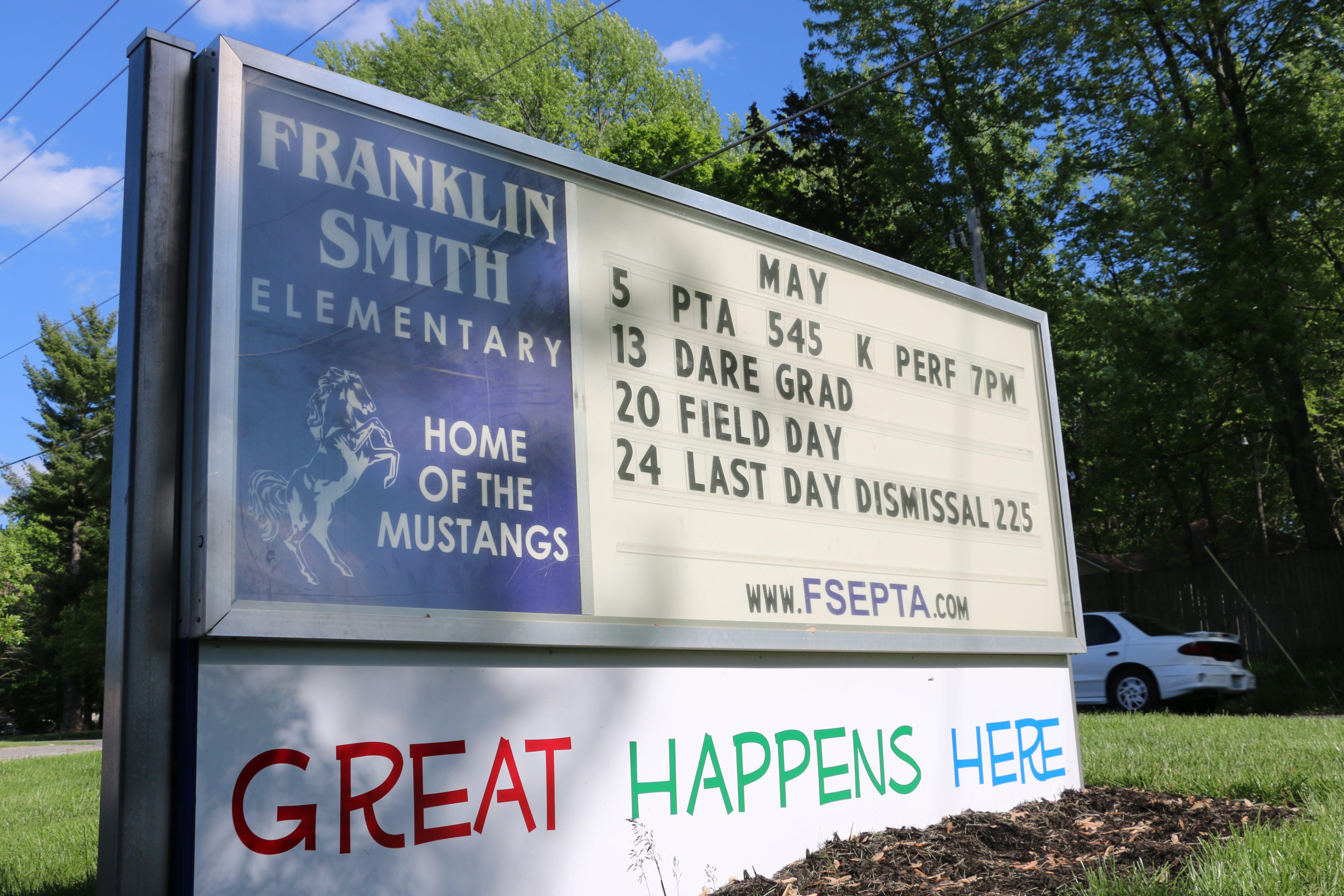 Franklin Smith school sign