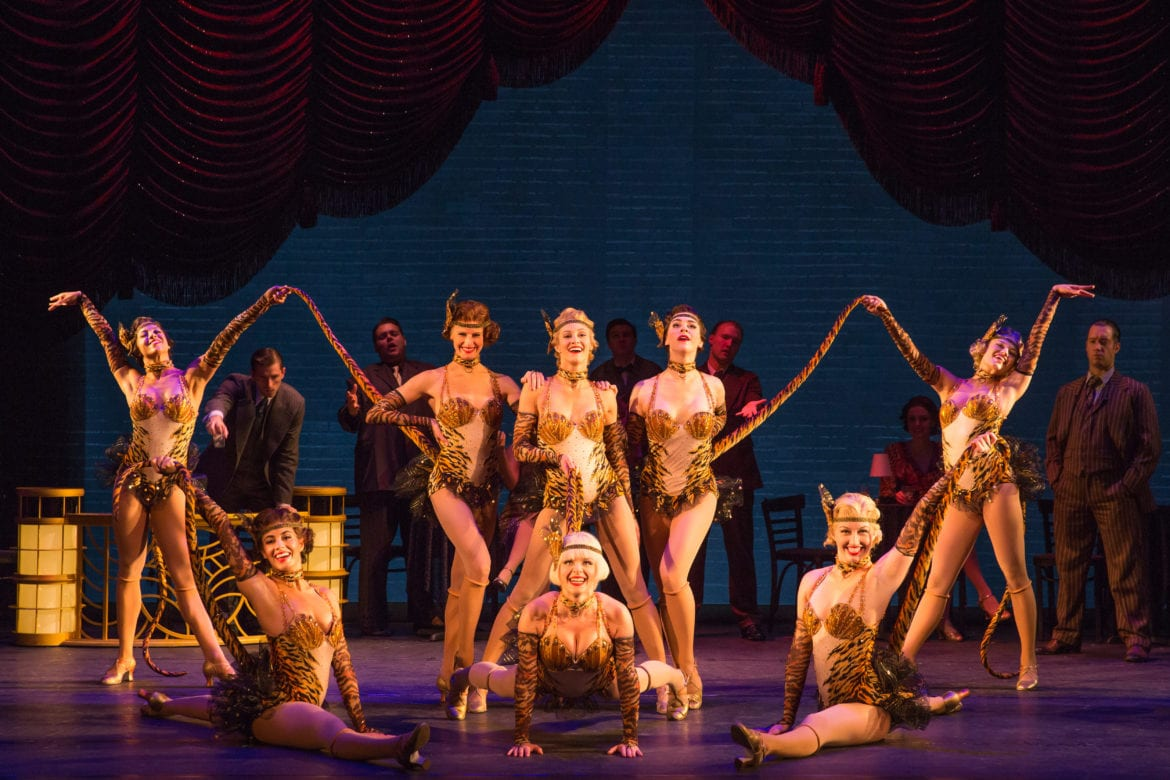 The cast of the North American tour of the hit musical comedy Bullets Over Broadway