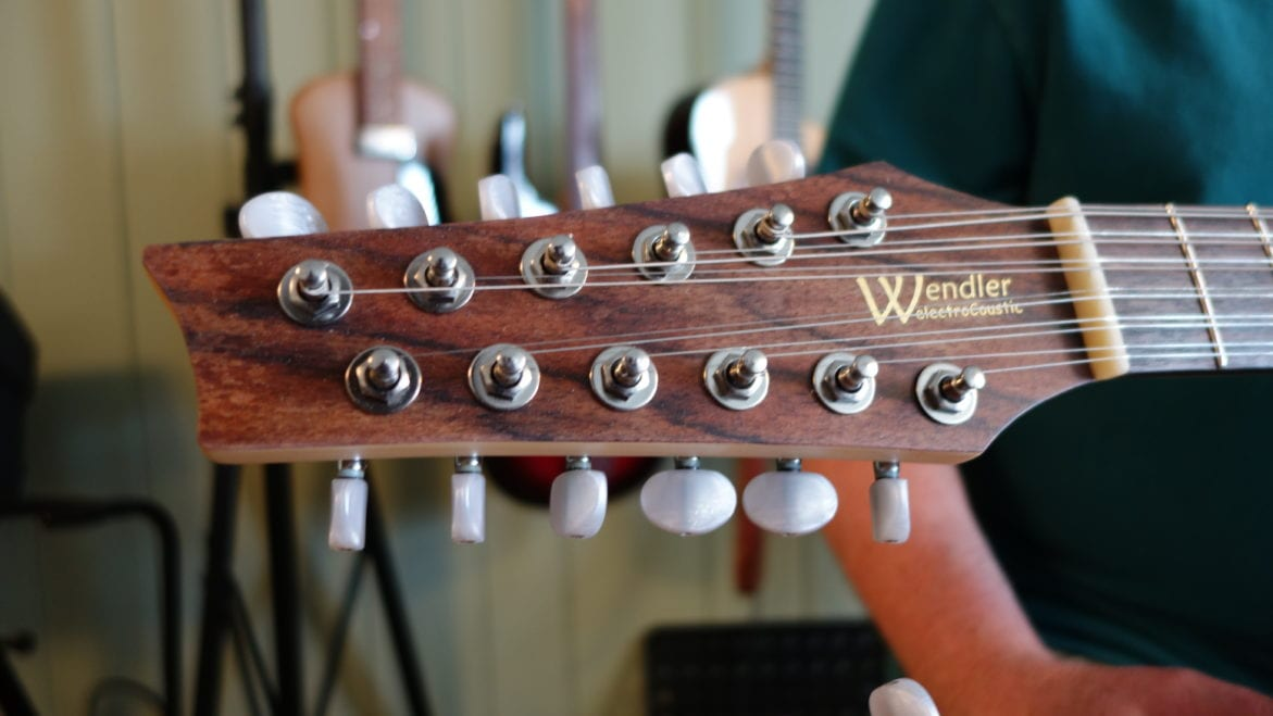 Wendler's electroCoustic guitars feature an electric pickup system developed by Wendler himself over his many years as a luthier. (Photo: Dan Calderon)