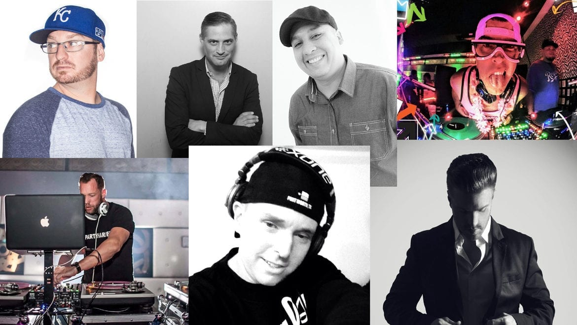 Collage of DJs