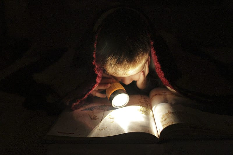 A child reading.