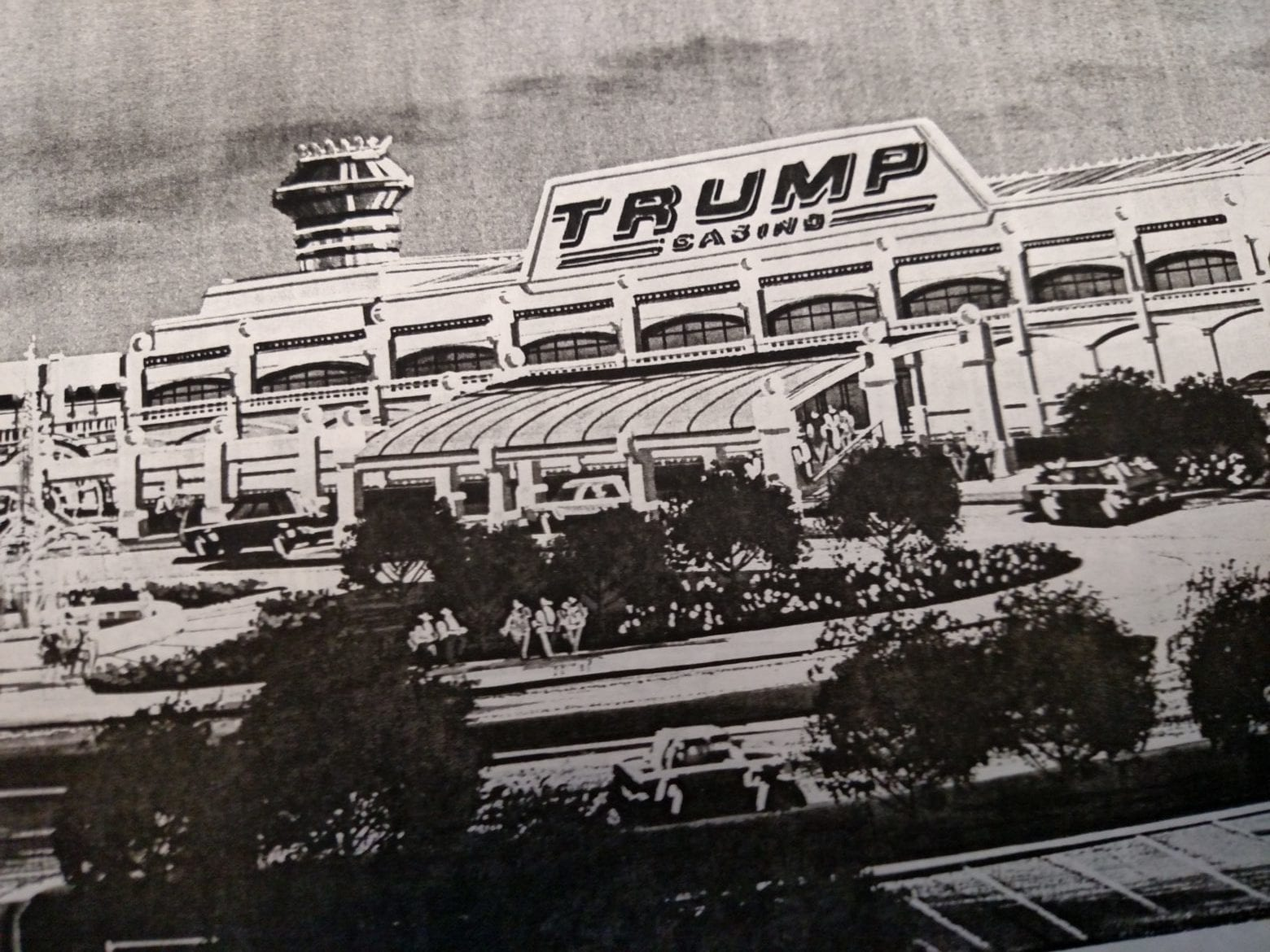 a rendering of a casino owned by Trump
