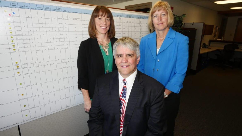 Roy Jensen and key cancer center staffers