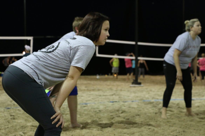 Morgan Goodman playing sand volleyball