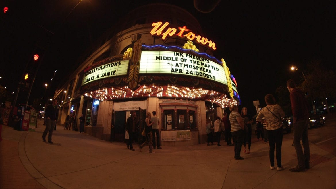 The exterior of The Uptown.