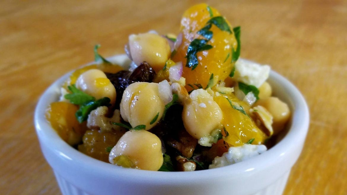 chickpea, cherry, and ginger salad