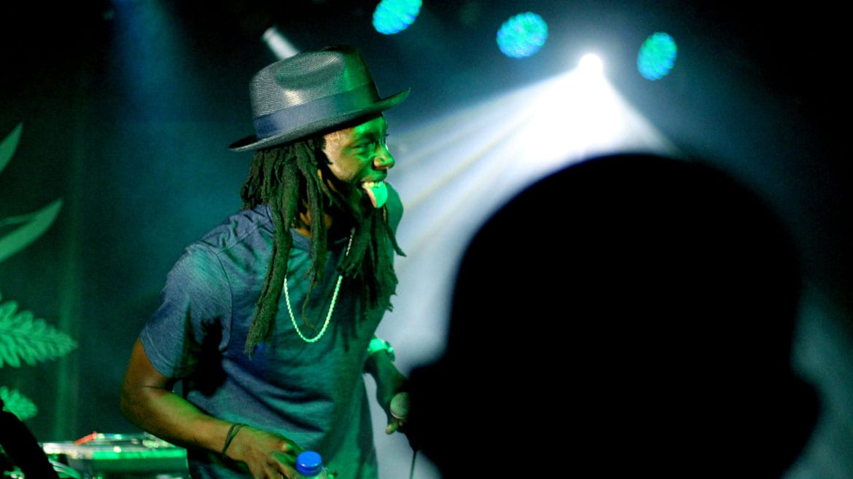 A rapper on stage