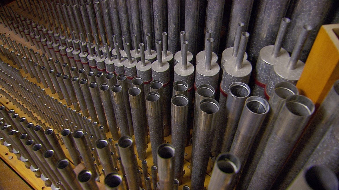 a portion of the pipes