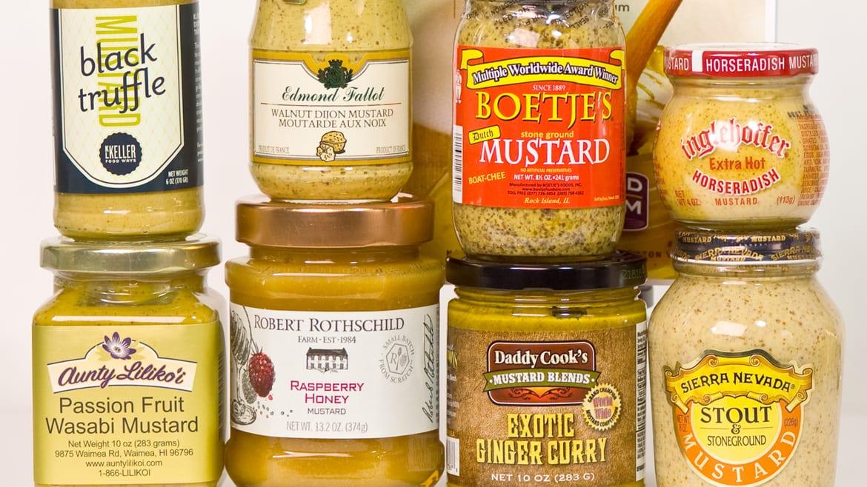Bottles of mustard