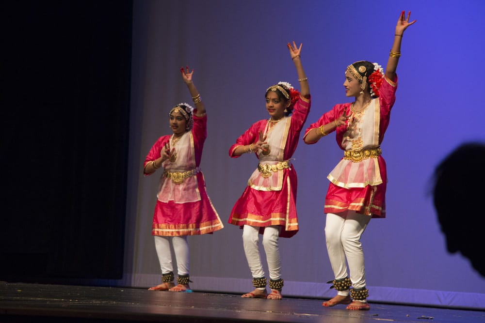 Young ladies move in sync as part of their South Indian dance. (Binita Dahal | Flatland)