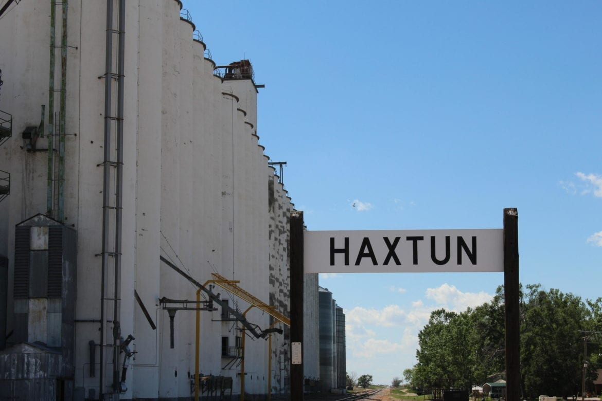 The small town of Haxton, Colorado.