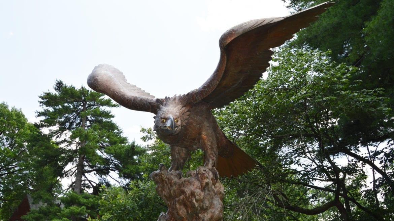 the eagle statue