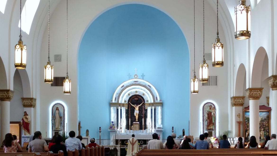 inside church of holy martyrs