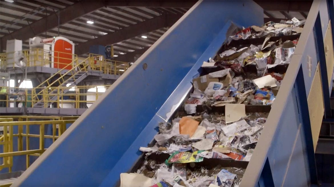 A recycling facility in Harrisonville, MO