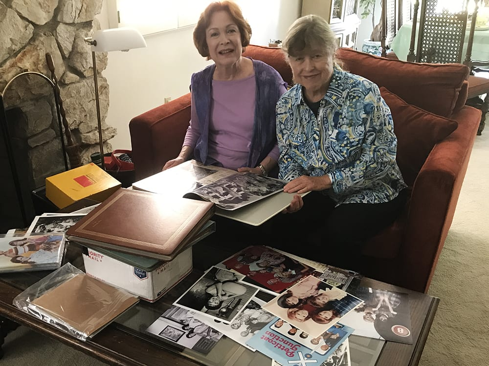 Henning sisters with some memorabilia