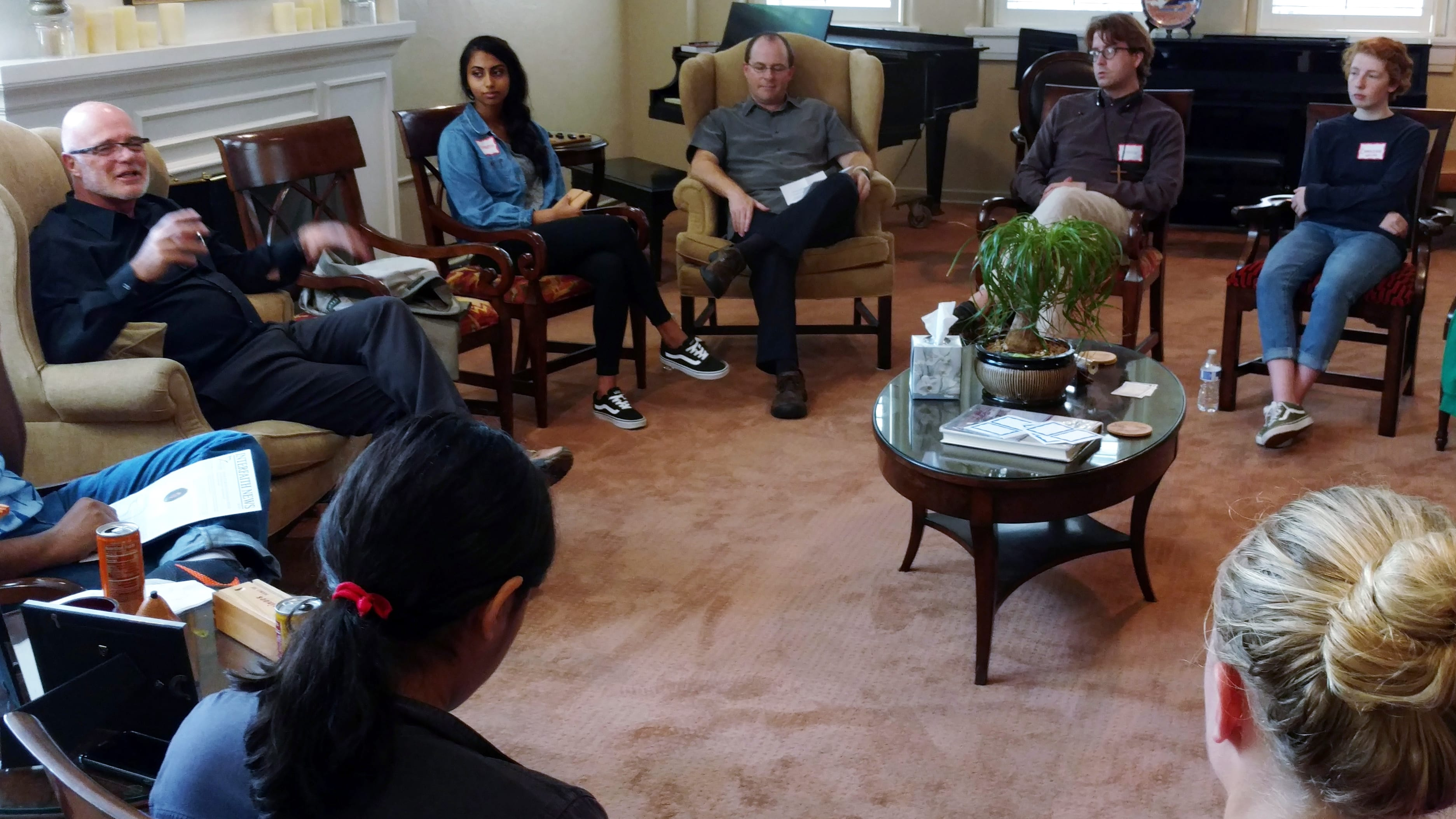 Brian McLaren meets with members and leaders of the Kansas City Interfaith Youth Alliance