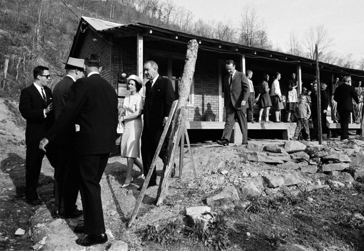Lyndon Johnson and wife in Kentucky