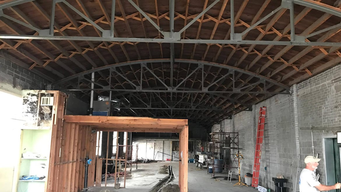Callsign Brewing's taproom and brewery under construction