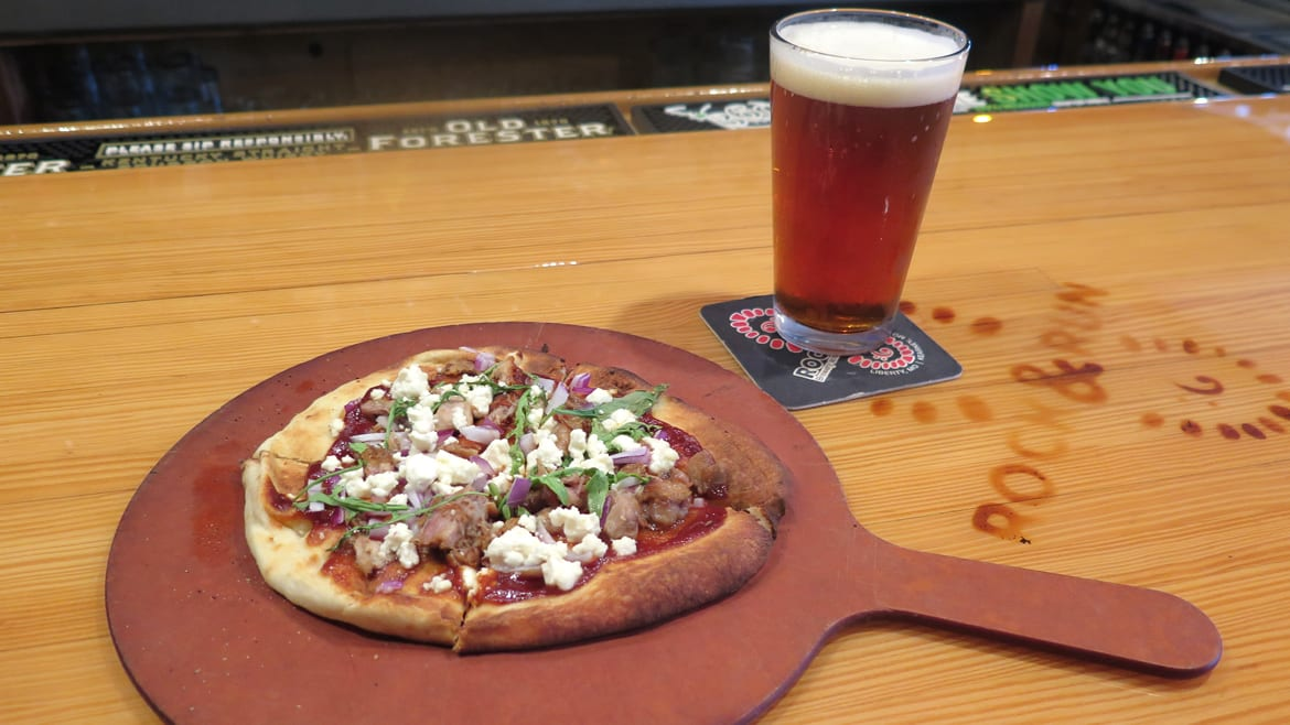 Rock and Run's barbecue pulled pork flatbread
