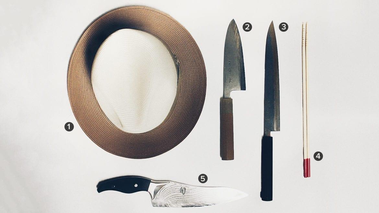 five items from chef carlos falcon