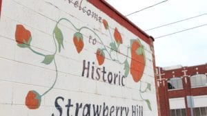 Welcome to Strawberry Hill sign
