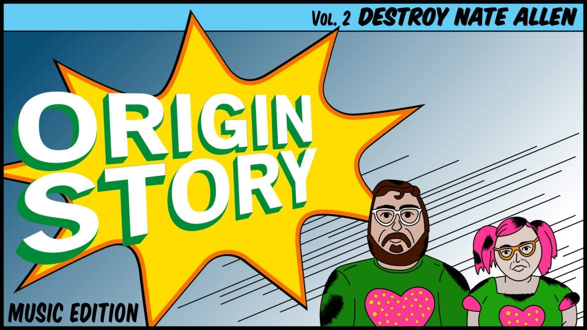 lead graphic panel for Origin Story Destroy Nate Allen
